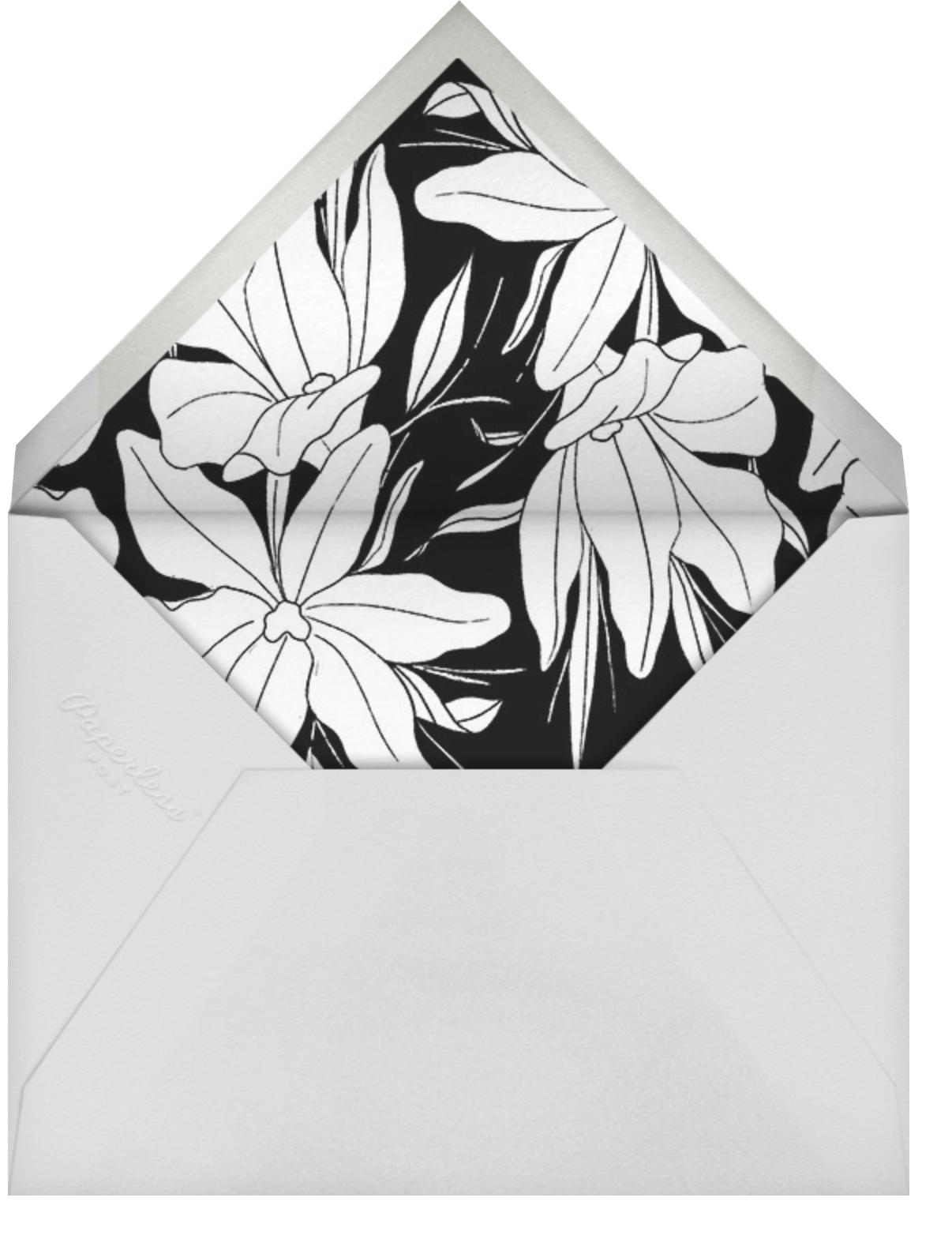 Aubrey - Black - Paperless Post - Bridal shower - envelope back