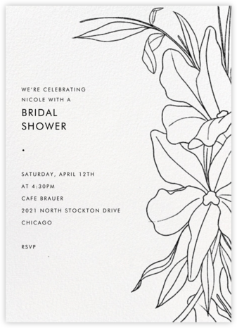 Aubrey - Black - Paperless Post - Bridal shower invitations
