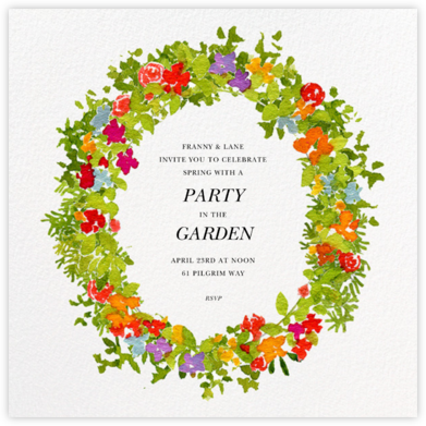 Spring Wreath - Felix Doolittle - General Entertaining Invitations
