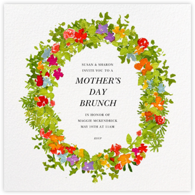 Spring Wreath - Felix Doolittle - Online Mother's Day invitations