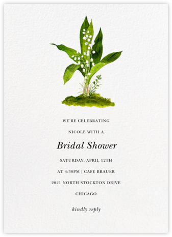 Muguet - Felix Doolittle - Bridal shower invitations