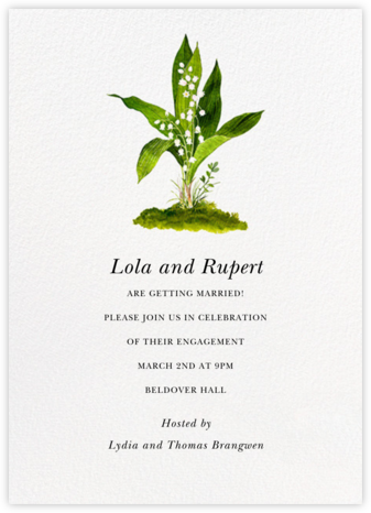Muguet - Felix Doolittle - Engagement party invitations