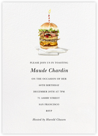 Birthday Bite - Felix Doolittle - Adult Birthday Invitations