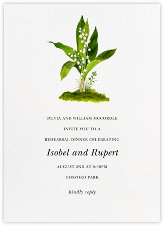 Muguet - Felix Doolittle - Wedding Weekend Invitations