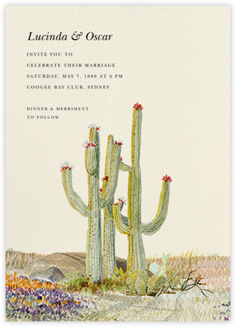 Saguaro (Invitation) - Felix Doolittle - Wedding invitations