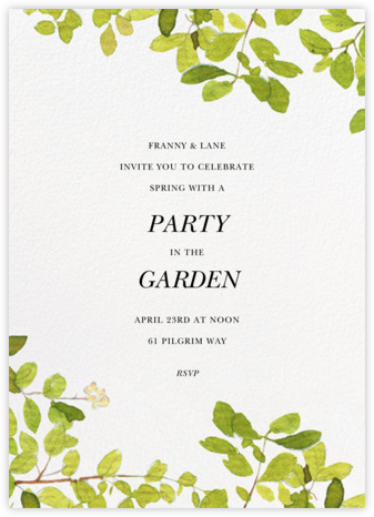 Spring Shade - Felix Doolittle - Summer entertaining invitations