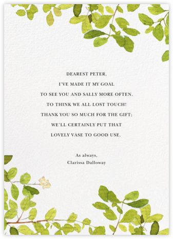 Spring Shade - Felix Doolittle - Online Thank You Cards