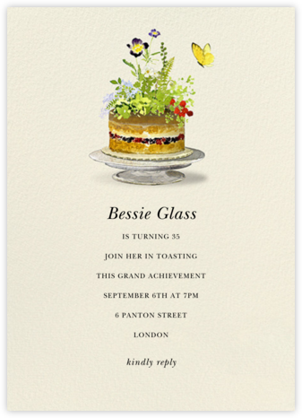 Sugar Flowers - Felix Doolittle - Birthday invitations