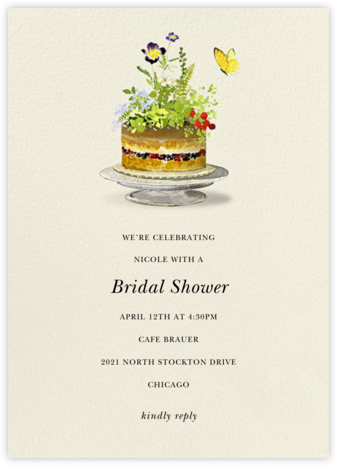 Sugar Flowers - Felix Doolittle - Bridal shower invitations