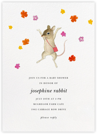 Mouse Capade - Felix Doolittle - Woodland Baby Shower Invitations
