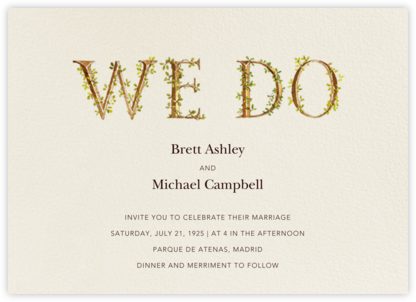Twining Proposal (Invitation) - Felix Doolittle - Wedding Invitations