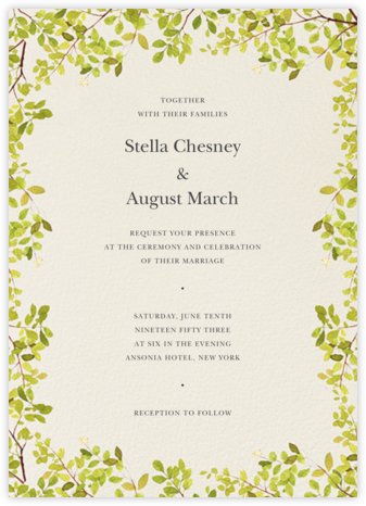 Spring Border (Invitation) - Felix Doolittle - Wedding invitations