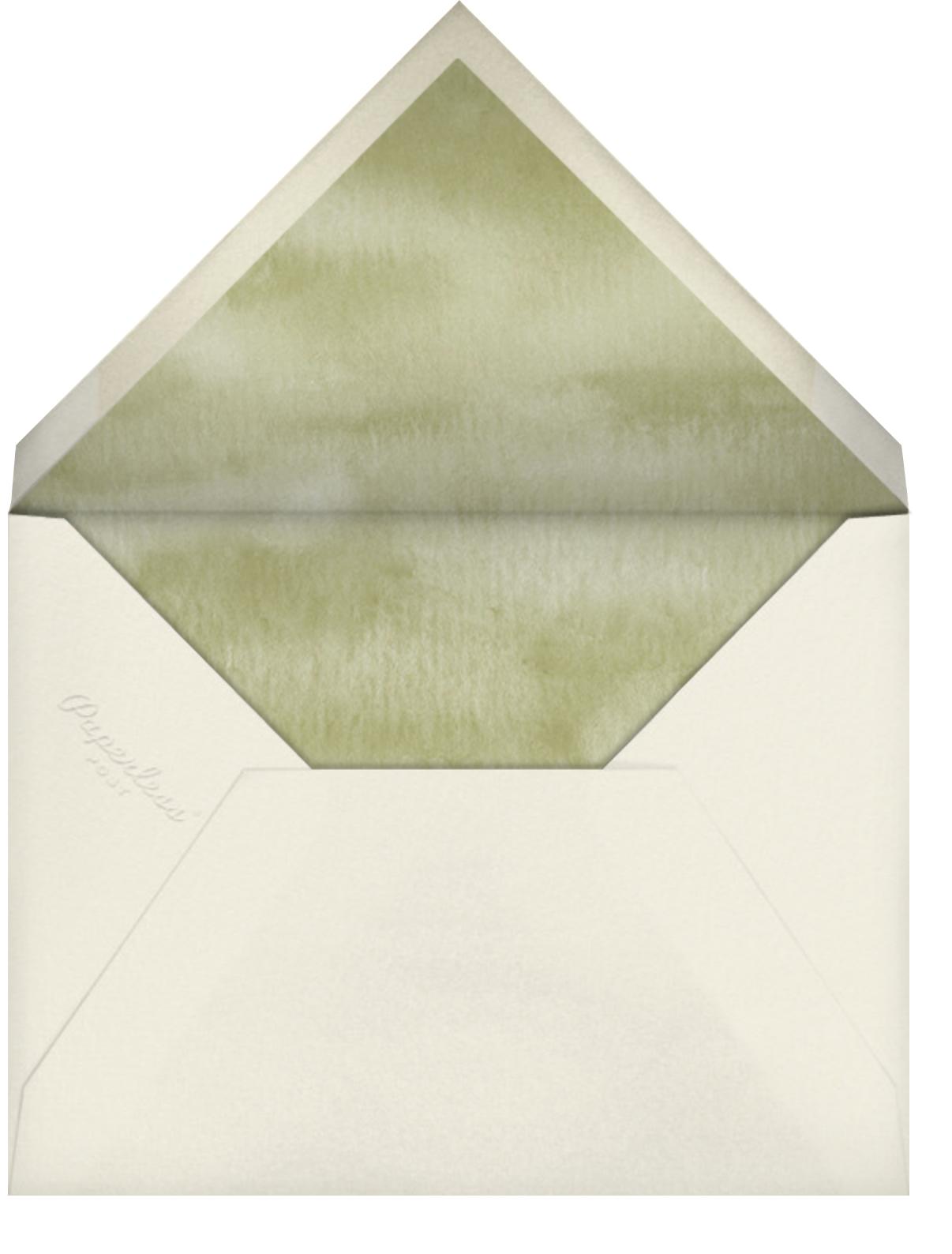 Spring Border - Felix Doolittle - Dinner party - envelope back