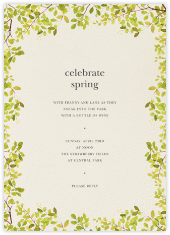Spring Border - Felix Doolittle - Online Party Invitations