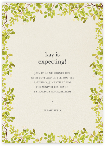 Spring Border - Felix Doolittle - Baby Shower Invitations