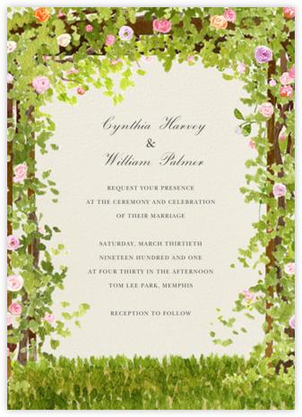 Spring Pergola (Invitation) - Felix Doolittle - Wedding Invitations