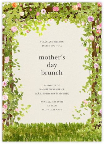 Spring Pergola - Felix Doolittle - Online Mother's Day invitations