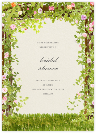 Spring Pergola - Felix Doolittle - Bridal shower invitations