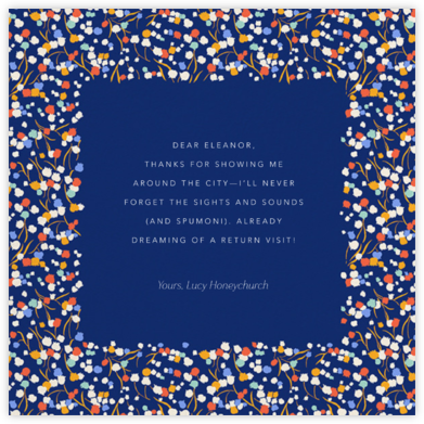 Tender Buttons - Indigo - Anthropologie - Online Thank You Cards