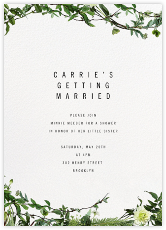 Chincoteague Vine - Paperless Post - Bridal shower invitations