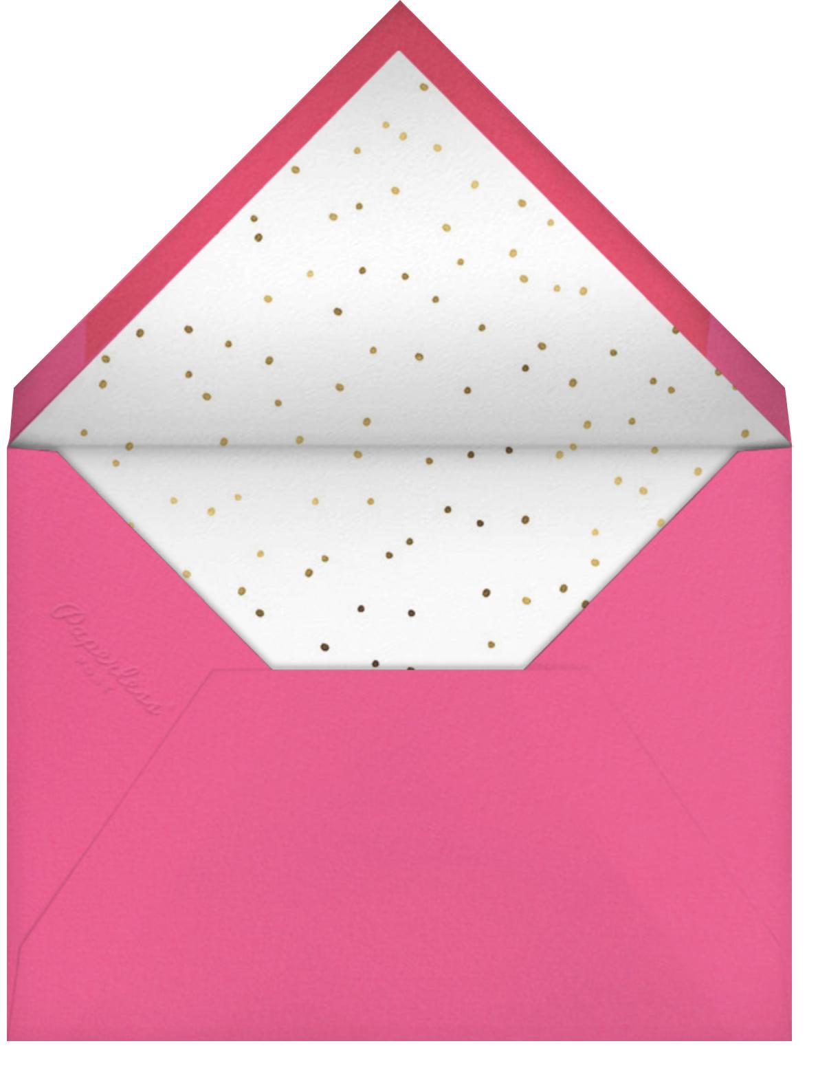 Blooming Chandelier - Meri Meri - Kids' birthday - envelope back