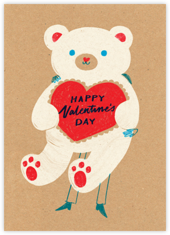 Big Bear Hunter - Paperless Post - Valentine's day cards