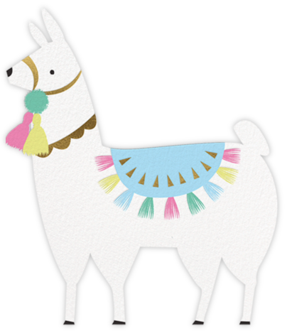 Alpaca Present - Meri Meri - Kids' birthday invitations
