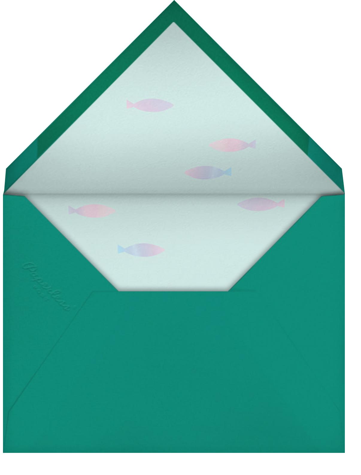 Let's Shellebrate - Meringue - Meri Meri - Kids' birthday - envelope back