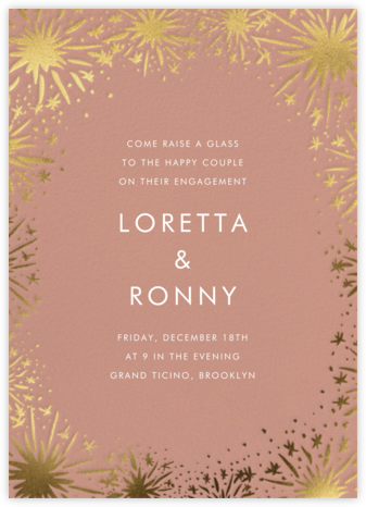 Starburst - Chamois - Linda and Harriett - Engagement party invitations
