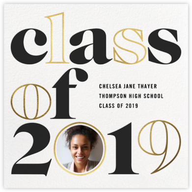 Head of the Class - Gold - Paperless Post - Graduation announcements