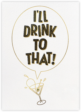 Cheers to All That - Derek Blasberg - Adult birthday invitations
