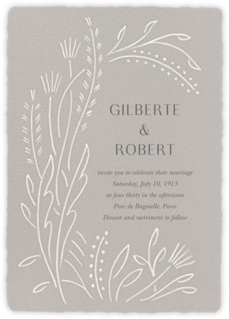 Sybilla (Invitation) - Chinchilla - Paperless Post - Wedding Invitations