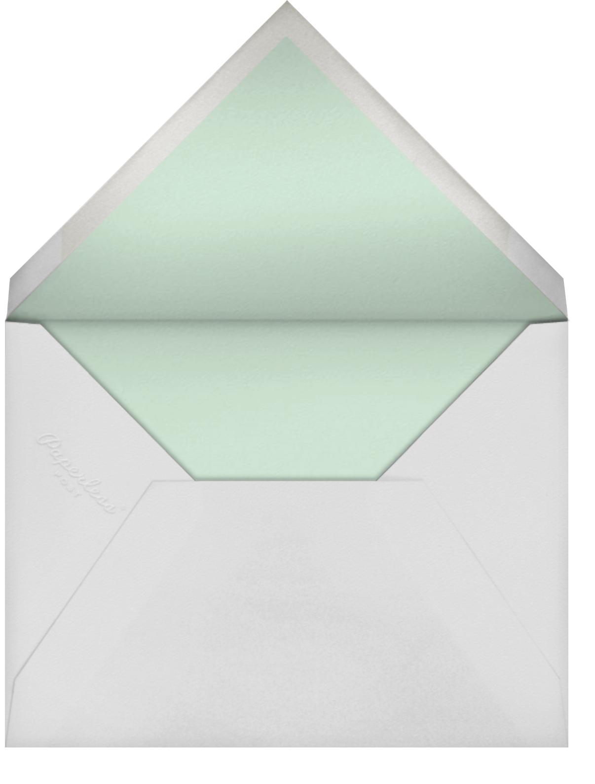 Sybilla - Mint - Paperless Post - Baby shower - envelope back