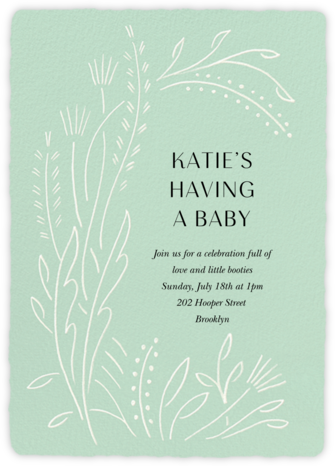 Sybilla - Mint - Paperless Post - Baby Shower Invitations