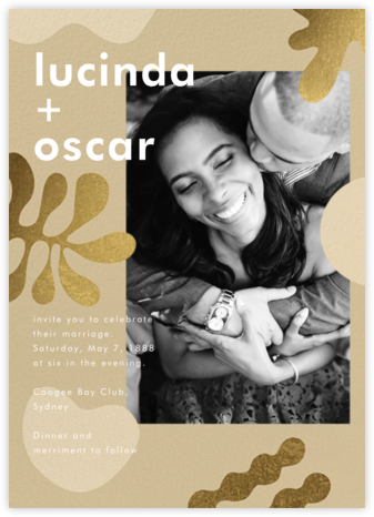 Fauves D'Or (Invitation) - Paperless Post - Wedding Invitations
