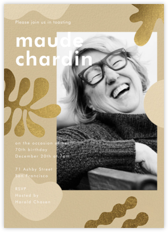 Fauves D'Or (Invitation) - Paperless Post - Adult Birthday Invitations