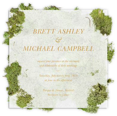 Moss Heart - Paperless Post - Wedding Invitations