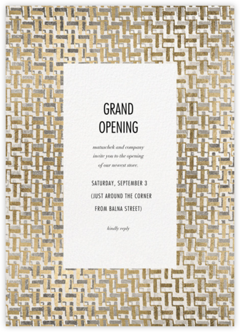 Alchemy - Kelly Wearstler - Launch Party Invitations