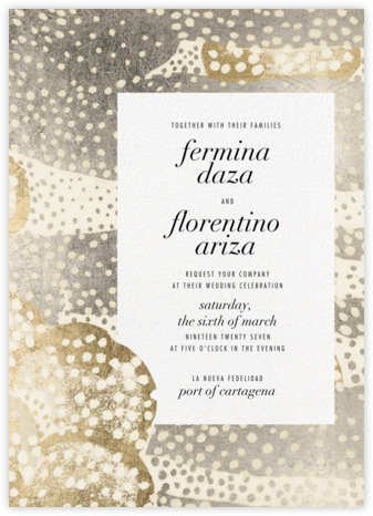 Flaunt (Invitation) - Metallic - Kelly Wearstler - Kelly Wearstler wedding