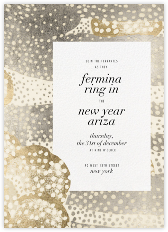 Flaunt - Metallic - Kelly Wearstler - New Year's Eve Invitations