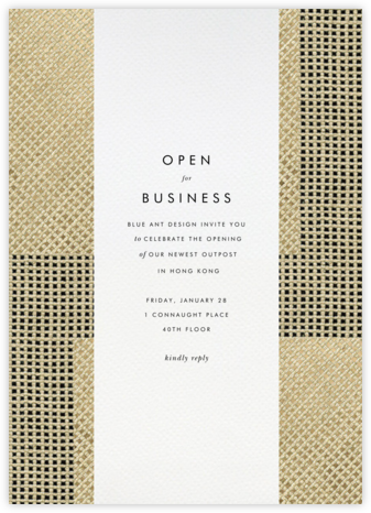 Juxtapose - Kelly Wearstler - Event invitations