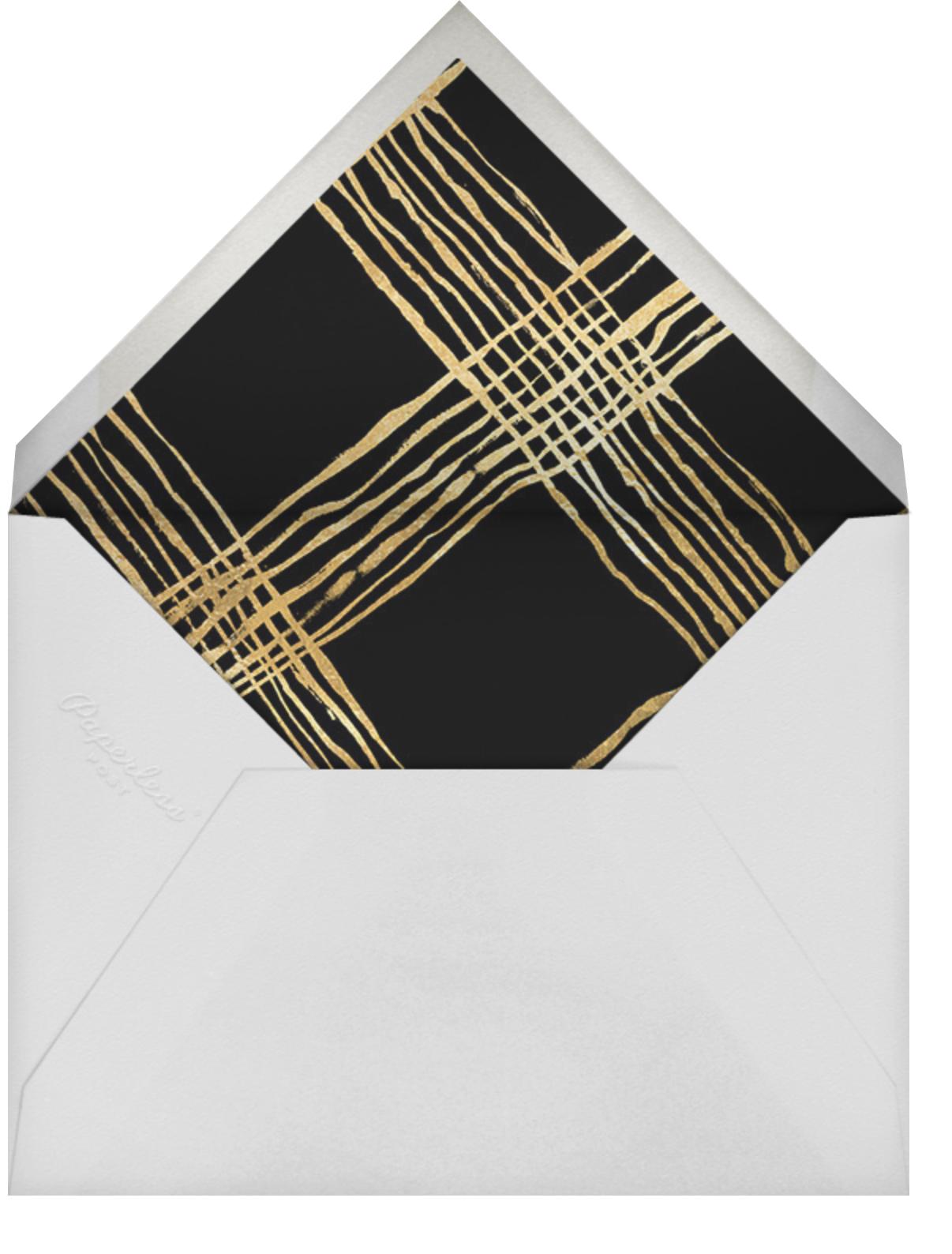 Juxtapose - Kelly Wearstler - Anniversary party - envelope back