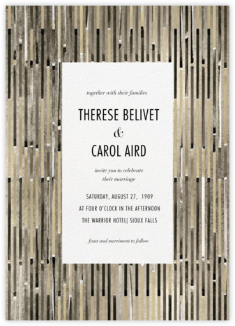 Paradigm (Invitation) - Kelly Wearstler - Kelly Wearstler wedding