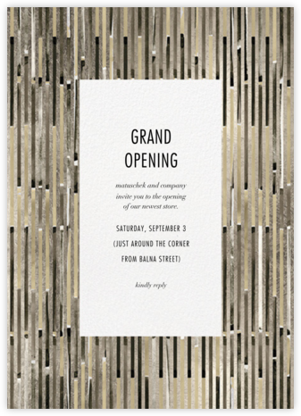 Paradigm - Kelly Wearstler - Launch Party Invitations