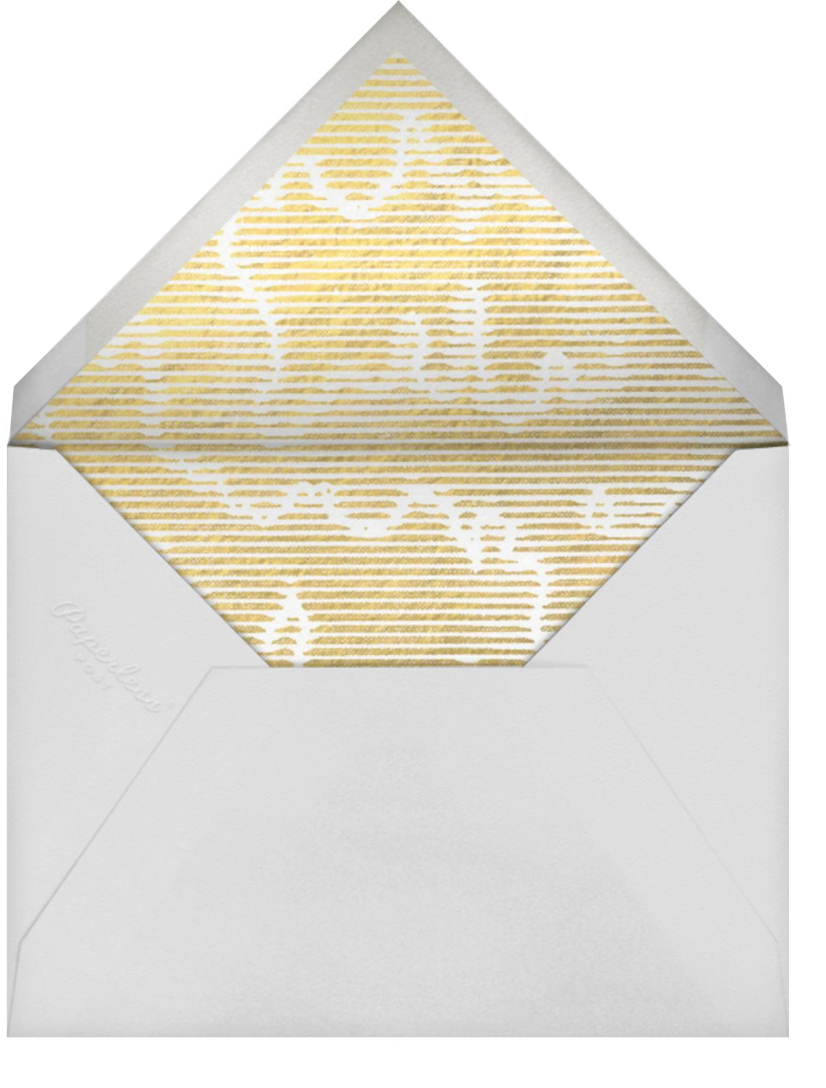 Acclaim - Kelly Wearstler - Bachelorette party - envelope back