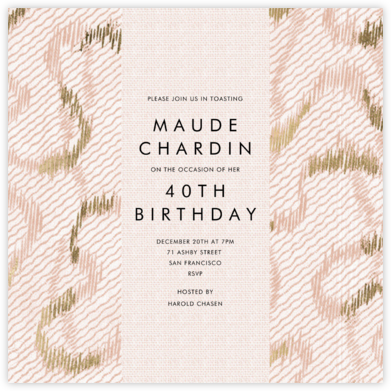 Acclaim - Kelly Wearstler - Adult Birthday Invitations