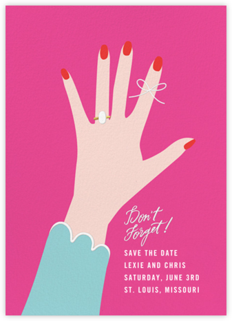 Put a String on It - Bright Pink - Cheree Berry - Save the dates