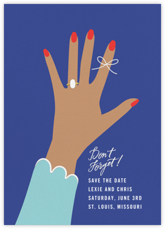 Put a String on It - Indigo - Cheree Berry Paper & Design - Save the dates