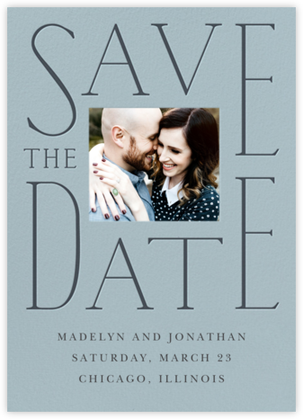 Dating in Pictures - Gray Green - Cheree Berry Paper & Design - Photo save the dates
