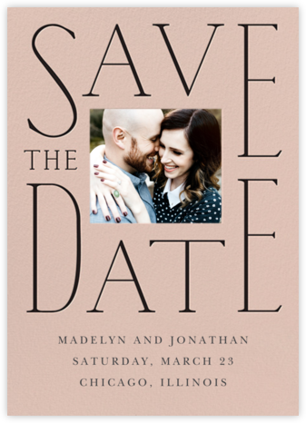 Dating in Pictures - Antique Pink - Cheree Berry - Save the dates